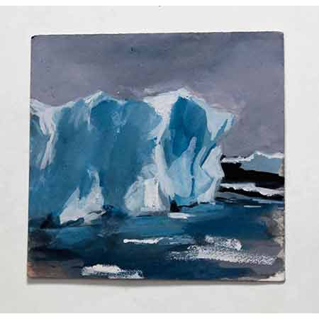 Massive Iceberg with Grey Sky 2012, Gouache 18cm x 18cm