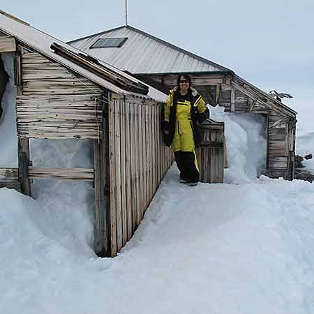 Reaching Mawson's Huts. An emotional experience this tiny bit of humanity surrounded by penguins and endless white. How isolated they were!