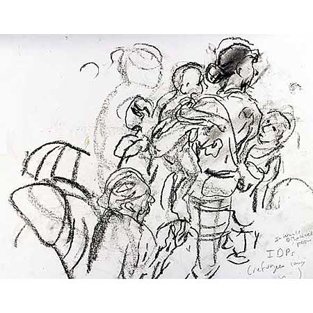 IDP's (Internaly Displaced Persons) - 1999, Charcoal