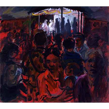 Midnight Mass Suai 2000 Oil on canvas 122cm x136cm Private collection