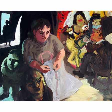 Artist Back Stage - Opera 2006 Oil on canvas 122cm x 136cm Private collection
