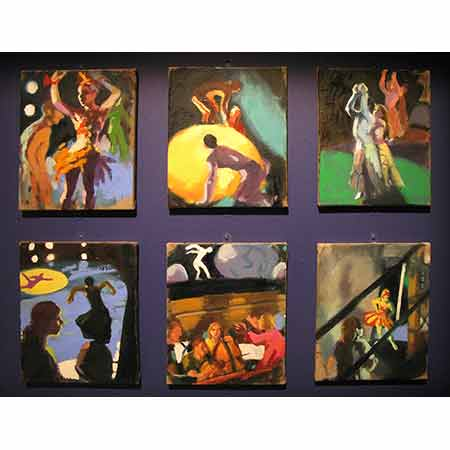 Firebird Series 2009 (all works) Oil on linen 30cm x 25cm Artist's collection.