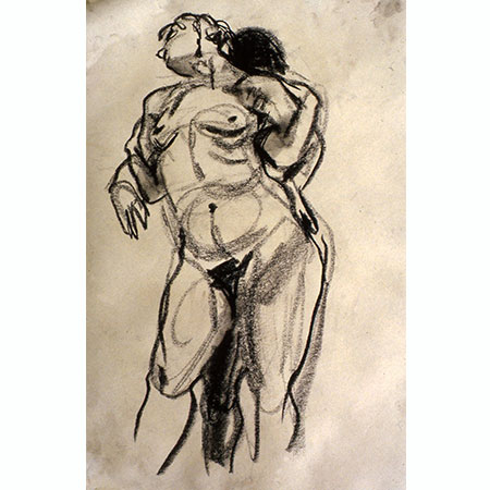 Life Drawing 1982, Charcoal on paper