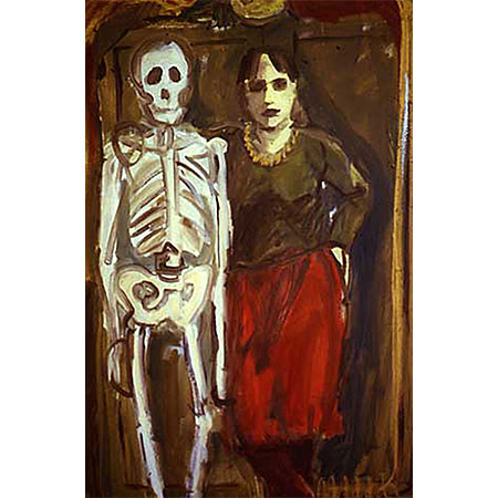 Self Portrait with Skeleton 1982