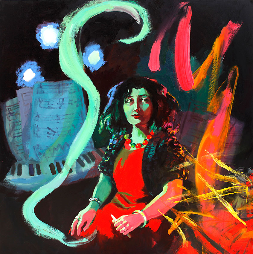 Wendy Sharpe 'The Witching Hour' Portrait of Elena Kats Chernin