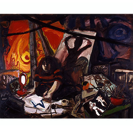 Big Studio 1991 Oil on canvas 166cm x 210cm Private collection